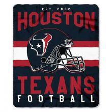"Houston Texans 50"" x 60"" Singular Fleece Throw Blanket"