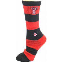 Texas Tech Red Raiders Striped Mid Calf Socks (Lg/XL)