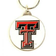 Texas Tech Red Raiders Oval Carved Metal Keychain