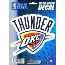 "OKC Thunder 5.75"" X 7.75"" Die-Cut Window Decal"