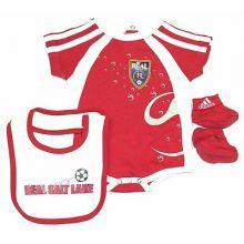 MLS Licensed Real Salt Lake 3 pc. Bodysuit, Bib and Bootie Set (3-6 Months)