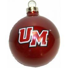 UMass Minutemen Small Painted Round Ornament