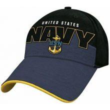 United States Navy Black Logo Adjustable Hat