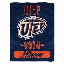 UTEP Miners Varsity Super Plush Fleece Throw