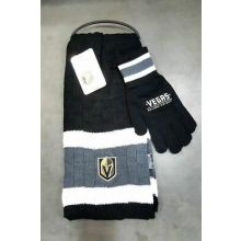 Vegas Golden Knights Cold Weather Knit Scarf and Glove Set