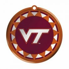 Virginia Tech Glass Logo Disc Ornament