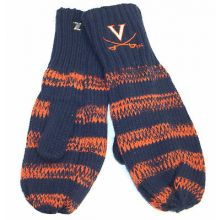 Virginia Cavaliers Striped Mittens