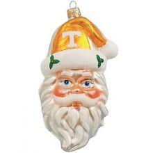 Tennessee Volunteers Santa Head Ornament