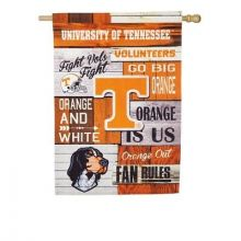 Tennessee Volunteers Vertical Linen Fan Rules House Flag