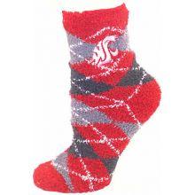 Washington State Cougars Argyle Fuzzy Socks