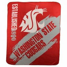 Washington State Cougars Established Fleece Throw Blanket