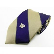 NCAA  Washington Huskies Wide Stripe  Silk Necktie