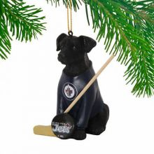 Winnipeg Jets Laborador Team Dog Ornament