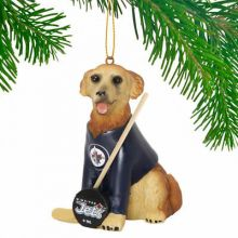 Winnipeg Jets Golden Retriever Team Dog Ornament