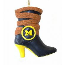 Michigan Wolverines Team Boot Ornament