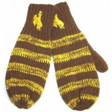 Wyoming Cowboys Striped Mittens