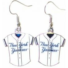 New York Yankees Jersey Dangle Earrings