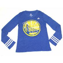 NBA Licensed Golden State Warriors Long Sleeve Jeweled YOUTH Girls Shirt