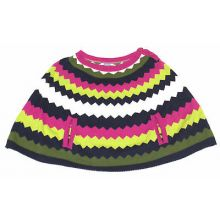 Hartstrings Girls Multi Color Chevron Print Sweater Poncho Shaw