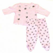Hartstrings Infant Girls 2 Piece Layette Jacket and Pant Set
