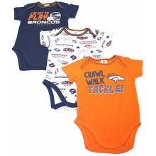 Denver Broncos 3 Piece Bodysuit Set
