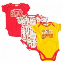 Kansas City Chiefs  2015 Boys 3 Piece Bodysuit Set