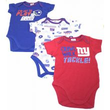 New York Giants 3 Piece Bodysuit Set