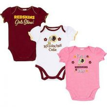 Washington Redskins 2018 Girls 3 pk. Bodysuits