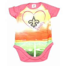 New Orleans Saints Girls Infant Field Bodysuit