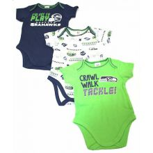 Seattle Seahawks 3 Piece Bodysuit Set