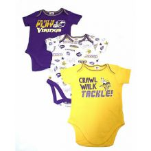 Minnesota Vikings 3 Piece Bodysuit Set