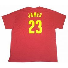 NBA Licensed Clevaland Cavaliers Lebron James Adult T-Shirt (X-Large)