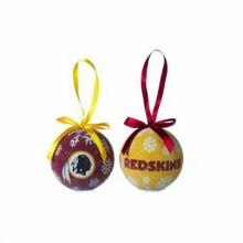 LED Light-up Ornament Set of 2 (Washington Redskins)