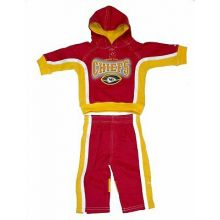NFL Officially Licensed Kansas City Chiefs 2-piece Hoodie and Pants Set (3/6 Mon