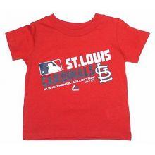MLB Licensed St. Louis Cardinals Authentic Collection Slant Print CHILD Shirt