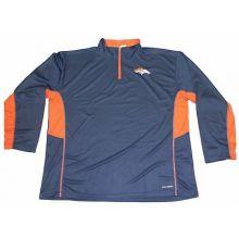 NFL Licensed Denver Broncos Embroidered Quarter Zip Pullover Jacket (6X-Large)