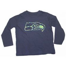 NFL Licensed Seattle Seahawks TODDLER Long Sleeve Team Colored Shirt