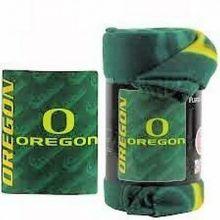 NCAA Officially Licensed Side Bar Fleece Throw Blanket (Oregon Ducks)
