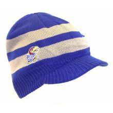 NCAA Officially Licensed Billed Knit Beanie Hat Cap Lid (Kansas Jayhawks)