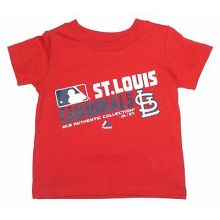 MLB Licensed St. Louis Cardinals Authentic Collection Slant Print YOUTH Shirt (M