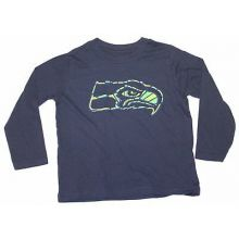 NFL Licensed Seattle Seahawks YOUTH Long Sleeve Team Colored Shirt (X-Large 18)