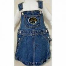 NFL Officially Licensed Jacksonville Jaguars Bib Overall Jean Skirt Dress