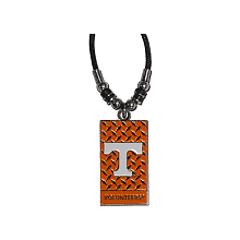 Tennessee Volunteers Diamond Plate Rope Necklace, 20-Inch
