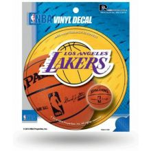 """LA Lakers 4.5"""" Round Die-Cut Window Decal"""