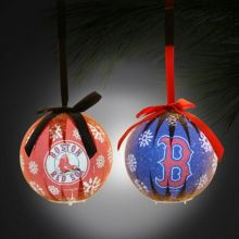 Boston Red Sox  LED Ball Ornaments Set of 2