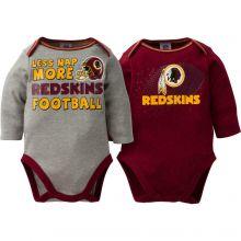 Washington Redskins NFL Infant Boys' 2-Pack Long-Sleeve Bodysuits 3-6 Months