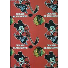 "NHL Officially Licensed Chicago Blackhawks 50"" X 60"" Mickey Mouse Character Fleece Throw"