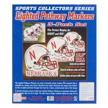NCAA Officially Licensed 3 pack Lighted Pathway Markers (Nebraska Cornhuskers)