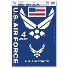 United States Air Force Multi-Use Removeable 4 Decals