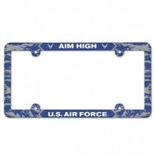 United States Air Force Full Color Camo Plastic License Plate Frame